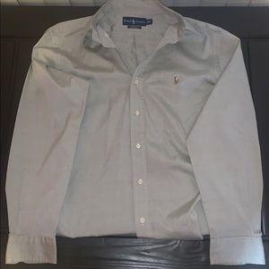 Mens Ralph Lauren Classic Fit Shirt Size XL Grey